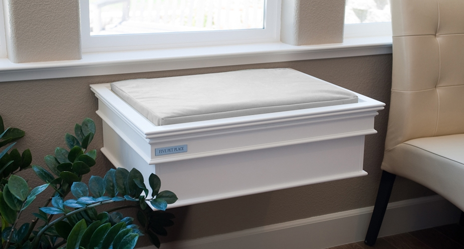 This Five Pet Place Window Bed features a Pure White finish and ...